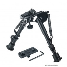 6-9 Inches Harris type Tactical Hunting Rifle Bipod With Adjustable Spring Return And M-Lok Mount Adapter