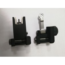 Black Universal Fit Aircraft Aluminum Folding up Front and Rear Backup lron Sight